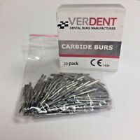 FG #557 Dental Carbide 19mm Burs (20 Pack), Made in EUR by Verdent