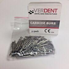 FG #557 Dental Carbide 19mm Burs (20 Pack), Made in EUR by Verdent