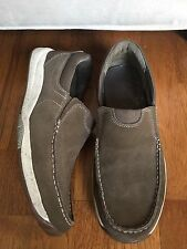 Clarks Vestal Slip On Boat Shoes Driving Loafers Taupe Nubuck Size 12