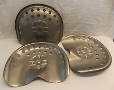 (3) Metal Steel Tractor Seats Antique Style Bar Stool Horse Drawn Rustic