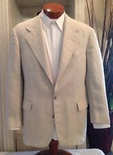 Polo Ralph Lauren Mens Silk White Herringbone Blazer Jacket Sz 38 40 R MINT!