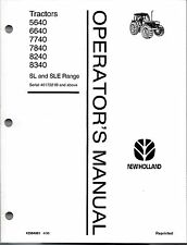FORD-NH 5640 6640 7740 7840 8240 8340  Tractor Operator's Manual  -WITH CAB