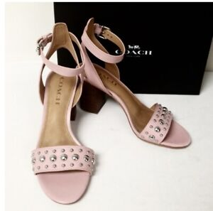 Coach Paige Studded Mat Clf/Clf Pink Size 8 M New With Box