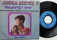 "SANDRA REEMER ""The party's over"" EUROVISION 76 HOLLANDE 6012602 7"" FRANCE / RARE"