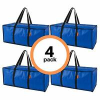 Heavy Duty Extra Large Storage Bags 4 Pack | Moving Bags for Moving Supplies