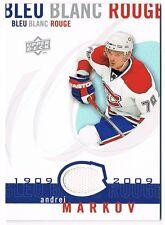 2008-09 Upper Deck Montreal Canadiens Centennial Jersey #LBBR-MA Andrei Markov