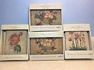 Cheri Blum Wall Plaques 3D ROSE/POPPY/PEARS/FRUIT Original box set of 4 plaques
