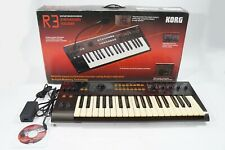 KORG R3 Synthesizer / Vocoder w/ Adapter R-3 Radias MMT Engine Yellowed