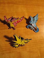COMPLETE Pokemon MOLTRES+ARTICUNO+ZAPDOS PIN Legendary EX Bird Collection XY Set