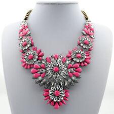 Hot Design Mixed J. Style Crystal Flower Bib Crew Statement Necklace Chain P27
