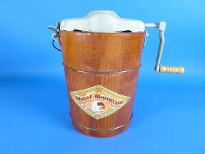 Vintage White Mountain Freezer 2 Quart ICE CREAM MAKER Hand Crank NEW?