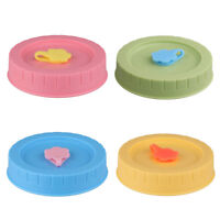 4pcs 70mm Replacement Caps Lids Straw Hole for Mason Jars Ball Canning Drinking