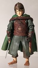 "Lord Of The Rings ROTK Merry Rohan Armor Helmet Sword Shield 6"" Figure Complete"