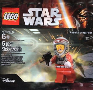 Lego Star Wars Rebel A-Wing Pilot Polybag 5004408 Pilote Minifigure Figurine New