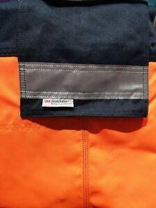 Leo Workwear Bideford CT01-Orange - Navy Hi Vis Work Trousers Class 1  32R  36R