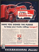 1942 INTERNATIONAL HARVESTER U.S. Truck Conservation Corps WWII AD