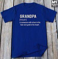 Grandpa Definition T Shirt Funny Grandpa Birthday Christmas Tee Fathers Day Gift