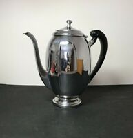Vintage Krome Kraft Chrome Tea/Coffeepot Bakelite Handle Farber Brothers 1940/50