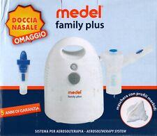 Medel family plus doccia nasale in omaggio aerosol terapia a pistone silenzioso