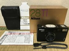 【Mint In Box!】Nikon 28Ti Black Point & Shoot Film Camera From JAPAN