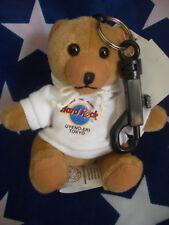HRC Hard Rock Cafe Uyeno Eki Tokyo Key Chain Bear White Hoodie