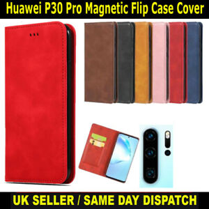 Magnetic Flip Book Cover Case for Huawei P30 Pro Card Wallet Leather Slim Fit