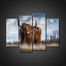 HIGHLAND CATTLE CANVAS PRINT PICTURE WALL ART HOME DECOR FREE FAST POSTGAE