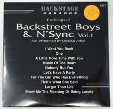 BACKSTAGE KARAOKE BACKSTREET BOYS & N'SYNC VOL 1 CD+G 10 TRACKS VOLUME 6317