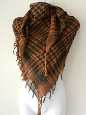 Rust Brown Black Arab Shemagh Head Scarf Neck Wrap Keffiyah Desert Wear Value