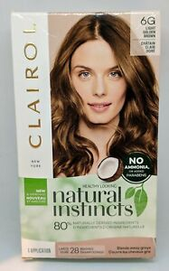 Clairol Natural Instincts Semi Perm Hair Color #6G Light Golden Brown