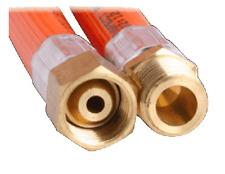 LPG NATRUAL GAS HOSE 6mm PVC 1/4'' BSP M x 1/4'' BSP FC 6HAA1800 1800mm