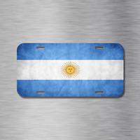 ARGENTINA ARGENTINEAN FLAG WORLD SOCCER Metal License Plate Frame Tag Holder