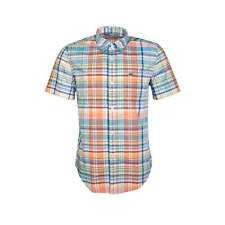Lacoste Collared Check Short Sleeve Men's Casual Shirts & Tops