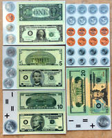 Magnetic Coins and Bills, Student Set of 56, Lerning Resources LER37077
