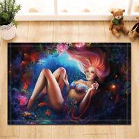 Door Mat Bathroom Rug Bedroom Carpet Bath Mats Non-Slip Mermaid and coral