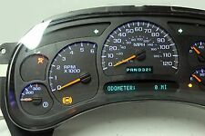 03 04 Silverado 1500 2500 Sierra Yukon Instrument Cluster with BLUE LED upgrade