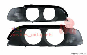 For BMW 5 Series E39 1996 - 2000 Headlight Lenses LEFT and  RIGHT set TINTED