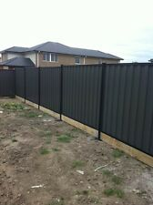 Colorbond Fence panel with sleeper (Bluescope steel)