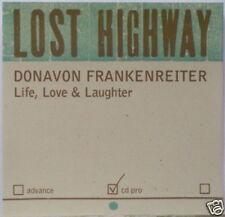 DONAVON FRANKENREITER Life Love PROMO CD Single LYRICS