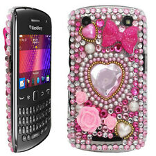 Bling diamante cristallo gemma BACK CASE COVER PER BLACKBERRY 9360 CURVE UK