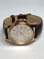 Lucien Piccard Mens Stainless Steel Rose Gold Tone Quartz Watch With Date
