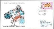 FDC - Maldives - 1978 World Wildlife Fund, Carpilius Maculatus, First Day Cover
