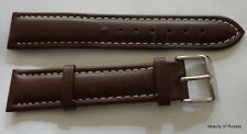 RUSSIAN  Aviator   BROWN leather  WATCH BAND 20 MM