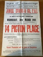 More details for carmarthen wall poster -   auction of 14 picton place (30th march 1949)
