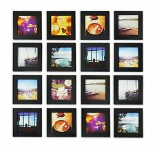 Instagram Frames Collection,Pack of 16, 4x4-inch Square Photo Wood Frames, Black