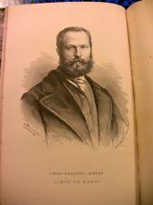 1872 PRINCES D'ORLEANS YRIARTE LIVRE GRAVURES HISTOIRE ROYAUTE MONARCHIE FRANCE