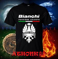 Men's shirt New Bianchi Logo Passione Celeste Bicycle t-shirt