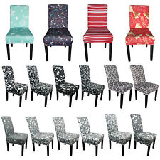 Dining Chair Seat Covers Spandex Slip Stretchable Protective Slipcover Wedding