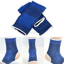 2*Compression Ankle Support Sleeve Pullover Wrap Sock Genie Pain Protection D59