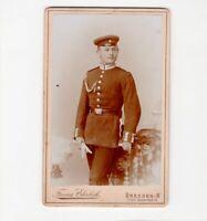 CDV Foto Soldat - Dresden 1890er